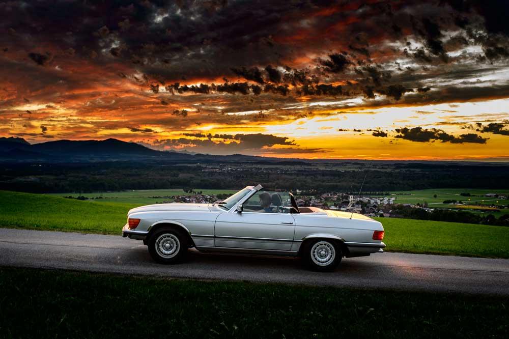 Genußfahrten mit ihrem Classic Car direkt vom Oldtimer Hotel weg